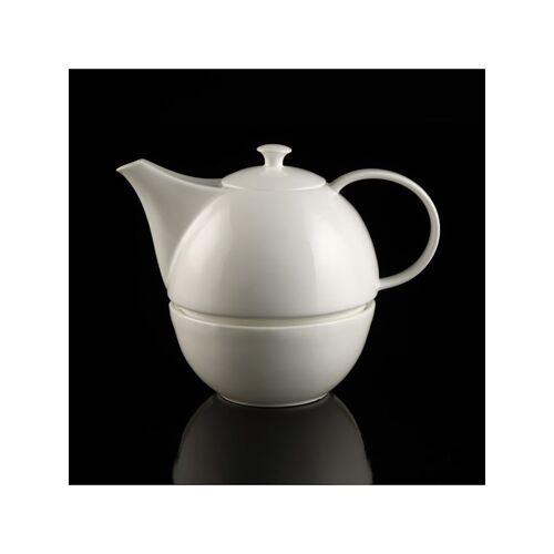 Kaiser Porzellan Teekanne mit Stövchen weiß Kaiser Porzellan weiß