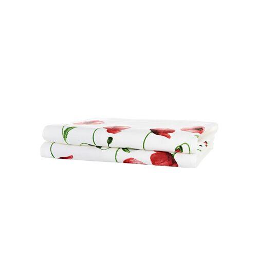 Kracht Geschirrtuch 'Mohnblumen' im 2er-Pack Kracht Rot