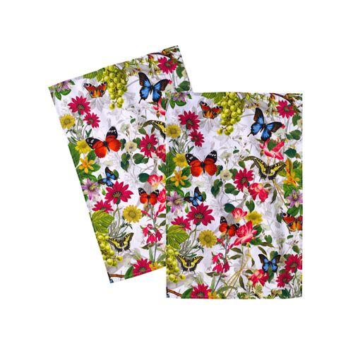 Kracht Geschirrtuch 'Wildblumen' 2er Kracht Multicolor