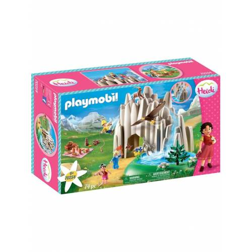 PLAYMOBIL Konstruktionsspielzeug Am Kristallsee mit Heidi, Peter und Clara PLAYMOBIL bunt/multi
