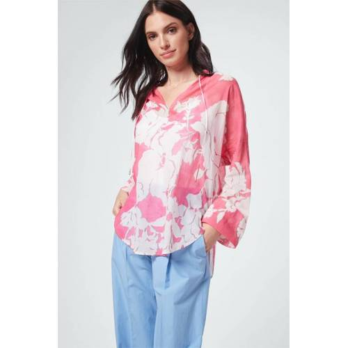 windsor. Oversize-Bluse in Pink-Weiß