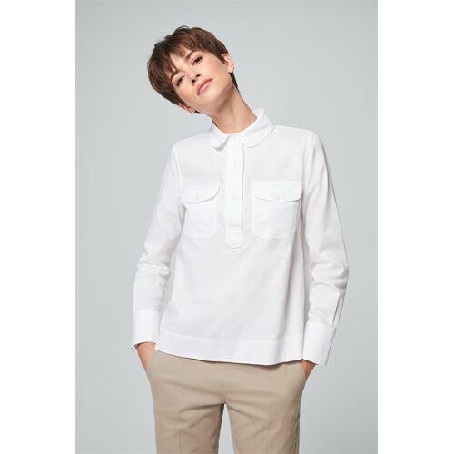 windsor. Oxford-Bluse mit Bubikragen in Weiß