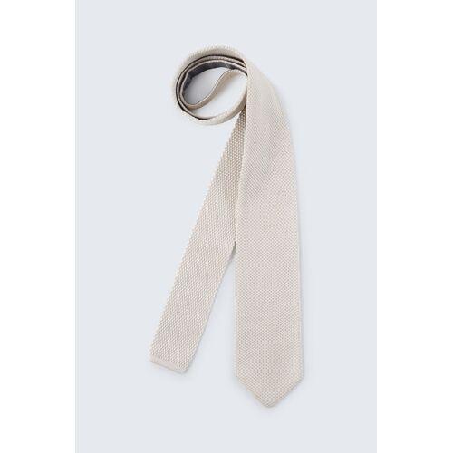 windsor. Baumwoll-Strick-Krawatte in Beige