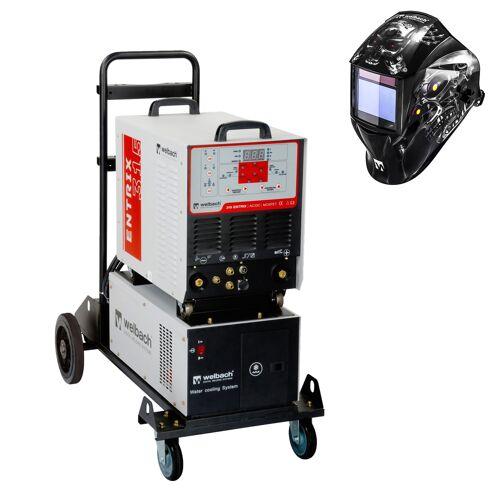 welbach Schweißset ALU Schweißgerät - 315 A - 400 V - Puls - Wasserkühler + Schweißhelm – Metalator 18000180