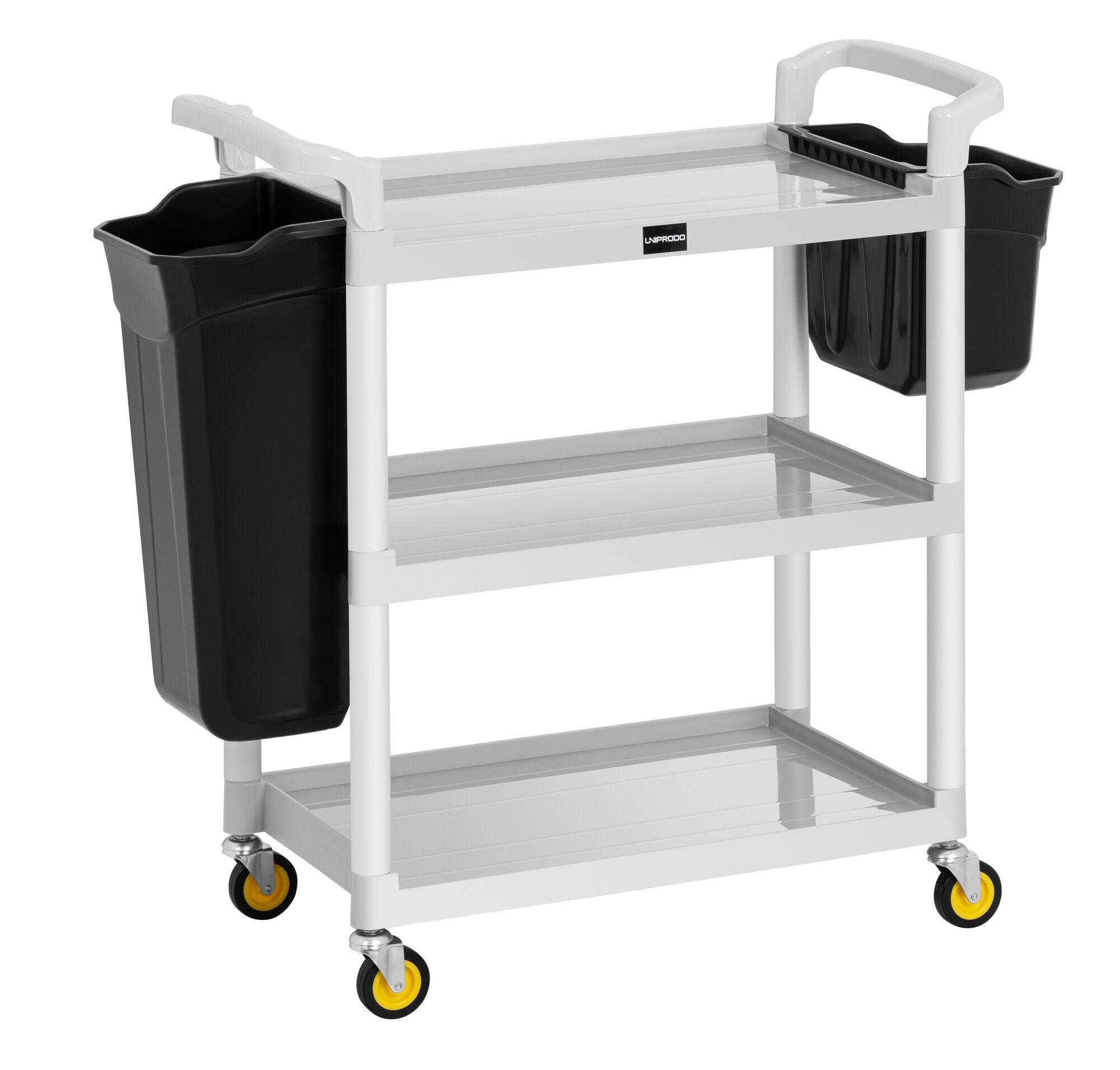 Uniprodo Servicewagen Hotel - 150 kg - 2 Behälter UNICLEAN 150
