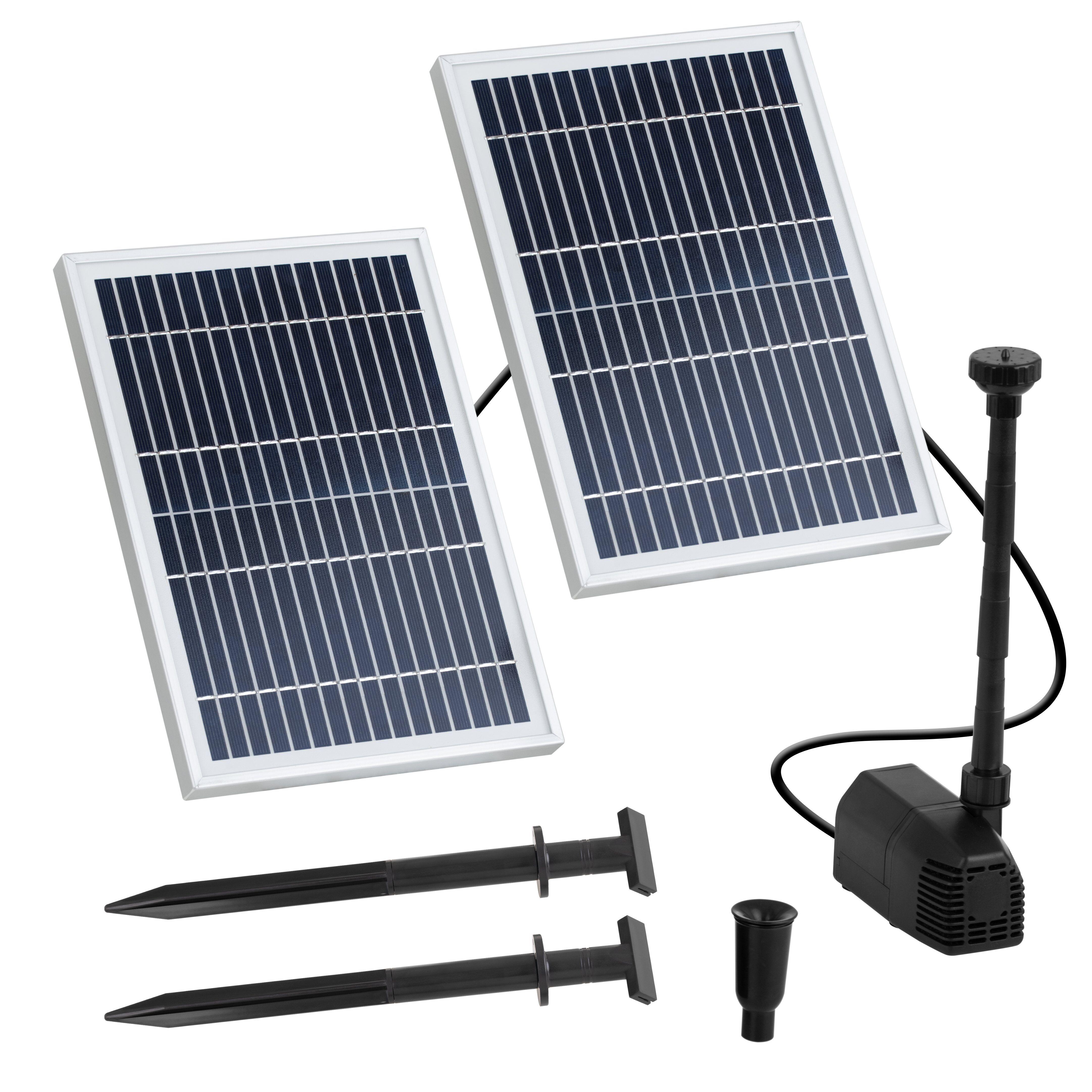 Uniprodo Solar-Springbrunnen - 1.350 l/h UNI_PUMP_06