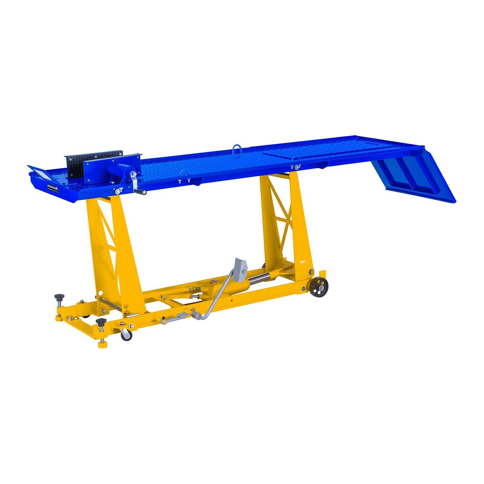 MSW Motorradhebebühne mit Rampe - 450 kg - 190 x 53 cm MSW-MHB-450-680