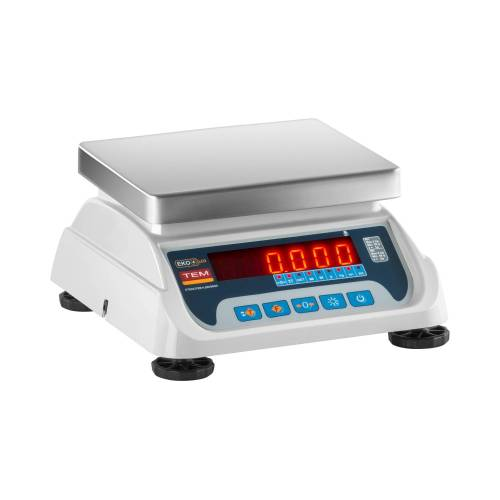 TEM Tischwaage - geeicht - 3 kg / 1 g - 6 kg / 2 g - LED 10200004
