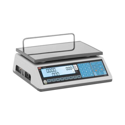 TEM Preisrechenwaage - geeicht - 6 kg/2 g - 15 kg/5 g 10200030
