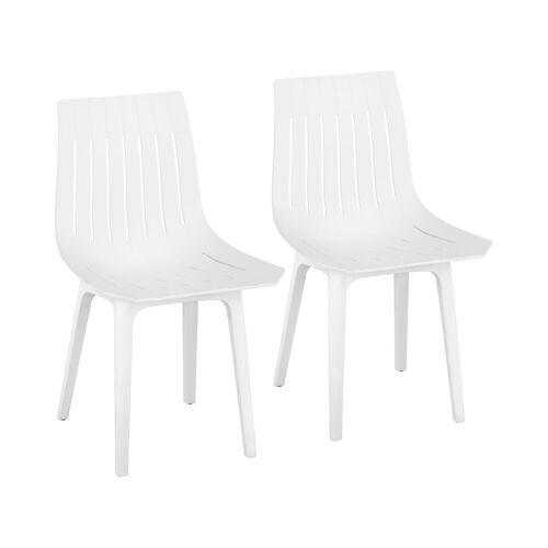 Fromm & Starck Stuhl - 2er Set - bis 150 kg - Sitzfläche 47 x 42 cm - weiß 10260133