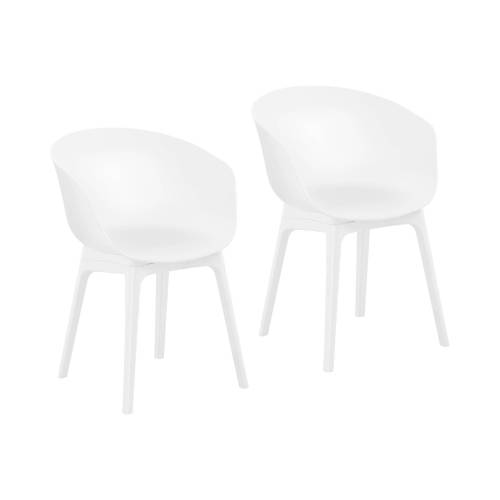 Fromm & Starck Stuhl - 2er Set - bis 150 kg - Sitzfläche 60 x 44 cm - weiß 10260138