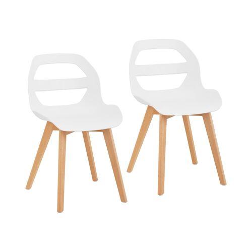 Fromm & Starck Stuhl - 2er Set - bis 150 kg - Sitzfläche 40 x 38 cm - weiß 10260141