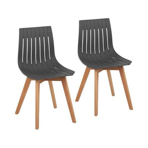 Fromm & Starck Stuhl - 2er Set - bis 150 kg - Sitzfläche 50 x 47 cm - grau 10260142