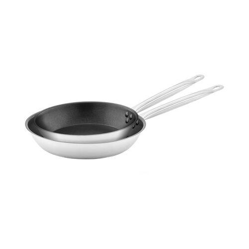 Royal Catering Edelstahlpfanne - 2 Stück - beschichtet - Ø 24 / 28 x 5 cm 10011445