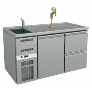 GGG Ausschanktheke - 1565x700x900 mm - Umluftkühlung - 1 Tür für