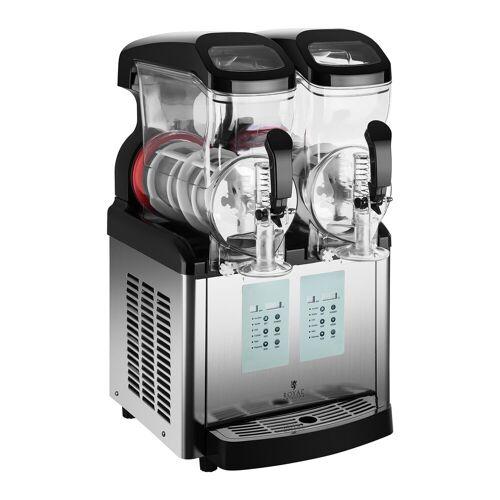 Royal Catering Slush-Maschine - 2 x 6 Liter - -20 °C Mindesttemperatur - Ice-Cream-Funktion 10011028