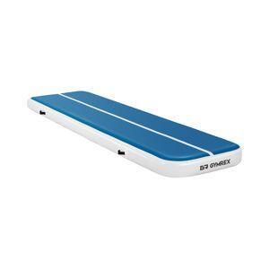 Gymrex Aufblasbare Turnmatte - 400 x 100 x 20 cm - 200 kg - blau/weiß