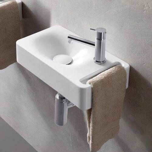 Scarabeo Hung Hängewaschbecken weiß mit BIO System 40 cm