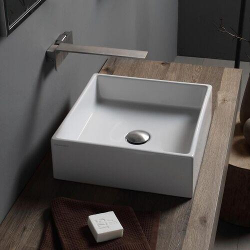 Scarabeo Teorema Aufsatzwaschtisch weiß mit BIO System 39 cm