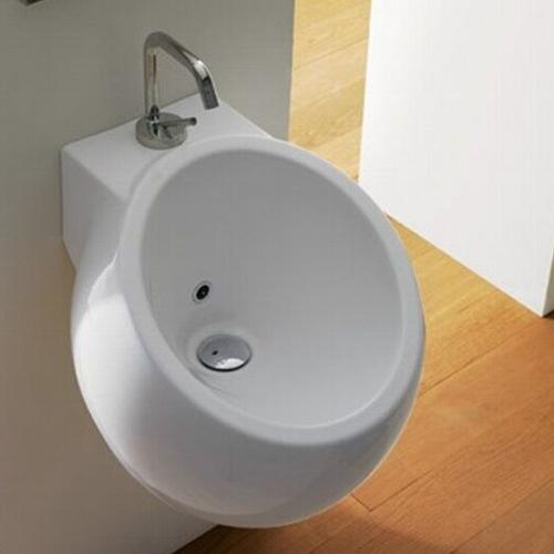 Scarabeo Planet Handwaschbecken weiß 42 x 45 cm mit BIO System