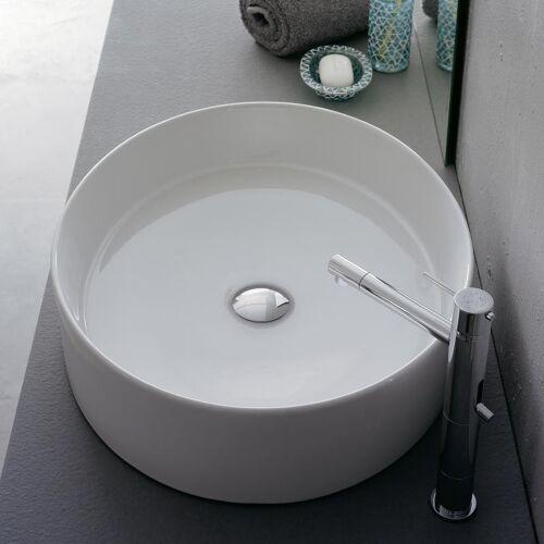 Scarabeo Wind Aufsatzwaschbecken 71 x 46 cm weiß