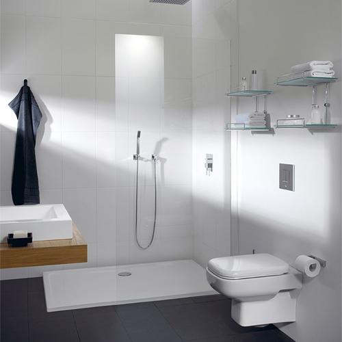 Repabad Como Rechteck-Duschwanne 120 x 75 cm weiß