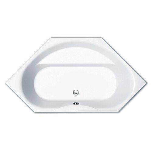 Repabad Tika 145 OE Sechseck-Badewanne 204 x 108 cm weiß