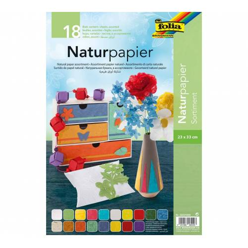 Persen Verlag Naturpapier 23 x 33 cm, 18 Blatt - bunt
