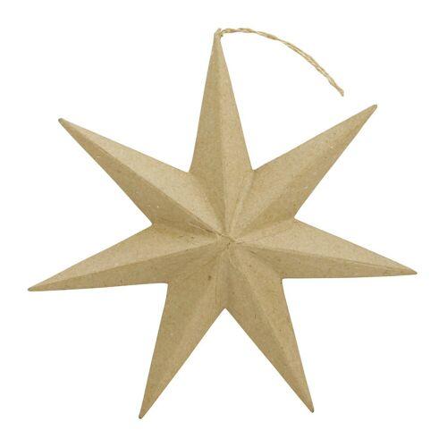 Persen Verlag Stern aus Pappmaché, Höhe 20 cm