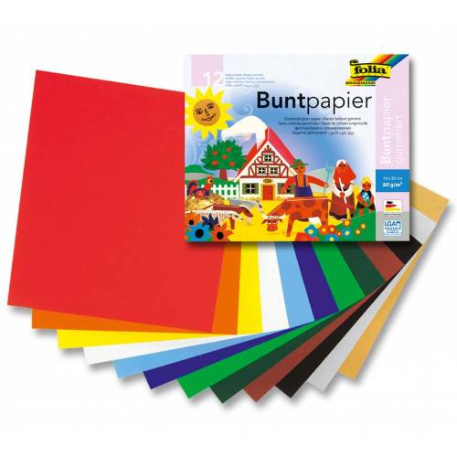 Persen Verlag 12 Blatt Glanzpapier 14 x 20 cm - bunt