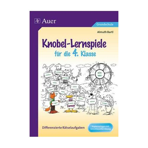 Auer Verlag Knobel-Lernspiele für die 4. Klasse