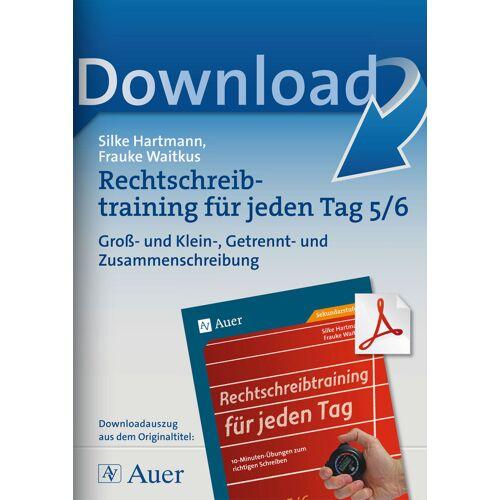 Auer Verlag Rechtschreibung für jeden Tag 5/6