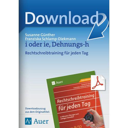Auer Verlag i oder ie, Dehnungs-h