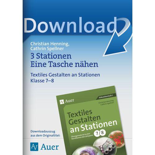 Auer Verlag 3 Stationen Eine Tasche nähen