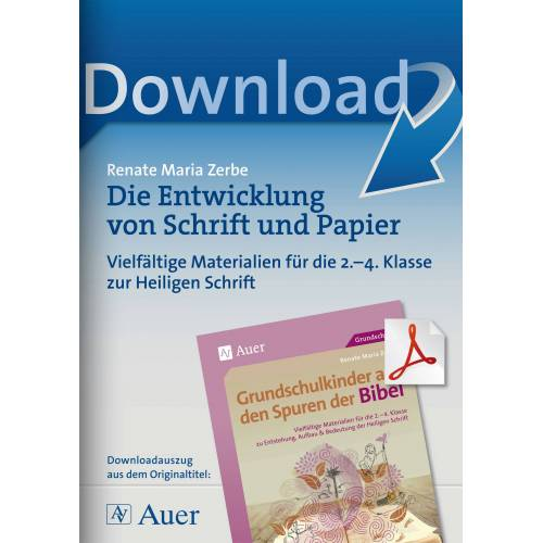 Auer Verlag Die Entwicklung von Schrift und Papier