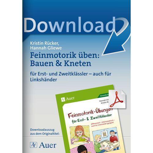 Auer Verlag Feinmotorik üben: Bauen & Kneten