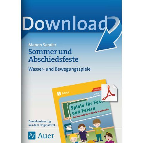 Auer Verlag Sommer und Abschiedsfeste