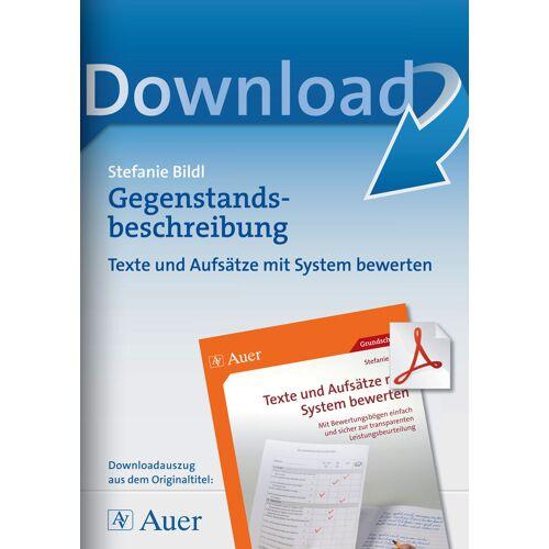 Auer Verlag Gegenstandsbeschreibung