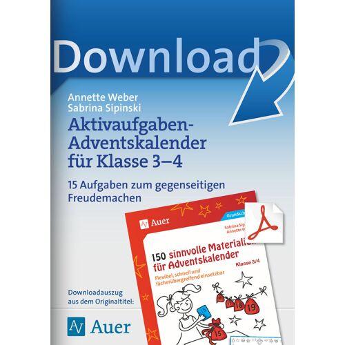Auer Verlag Akttivaufgaben-Adventskalender für Klasse 3-4