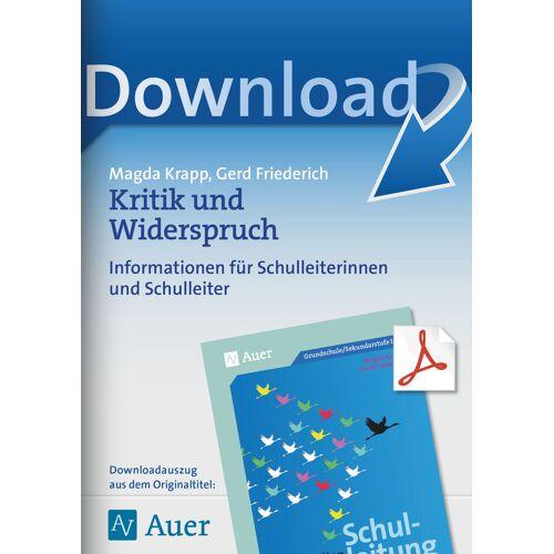 Auer Verlag Kritik und Widerspruch
