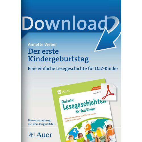 Auer Verlag Der erste Kindergeburtstag