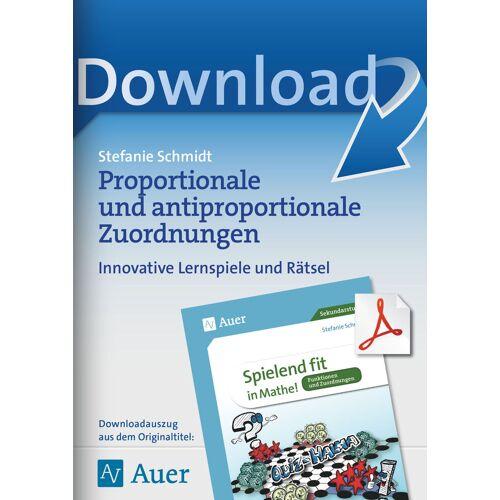 Auer Verlag Proportionale und antiproportionale Zuordnungen