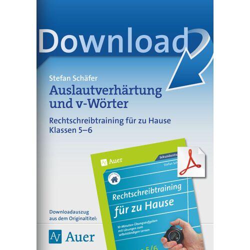 Auer Verlag Auslautverhärtung und v-Wörter