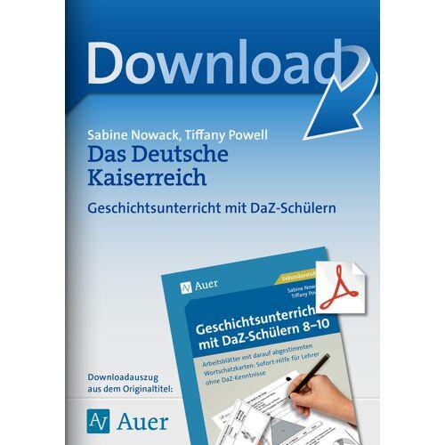 Auer Verlag Das Deutsche Kaiserreich