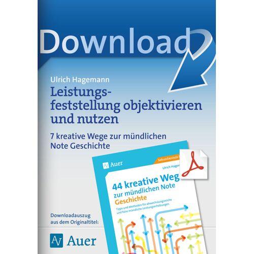 Auer Verlag Leistungsfeststellung objektivieren und nutzen