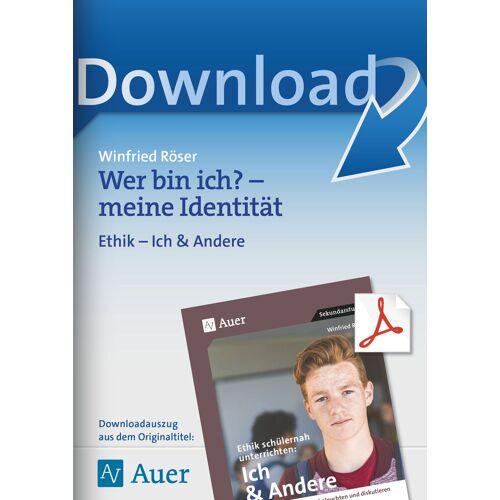 Auer Verlag Wer bin ich? - meine Identität