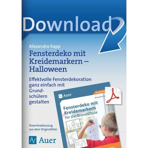 Auer Verlag Fensterdeko mit Kreidemarkern- Halloween