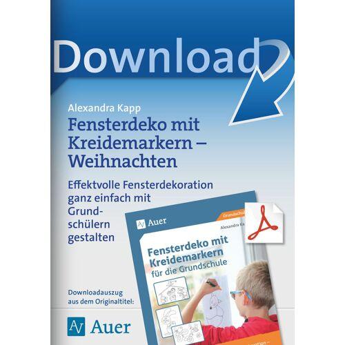 Auer Verlag Fensterdeko mit Kreidemarkern - Weihnachten