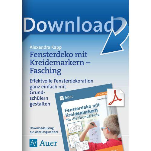 Auer Verlag Fensterdeko mit Kreidemarkern - Fasching