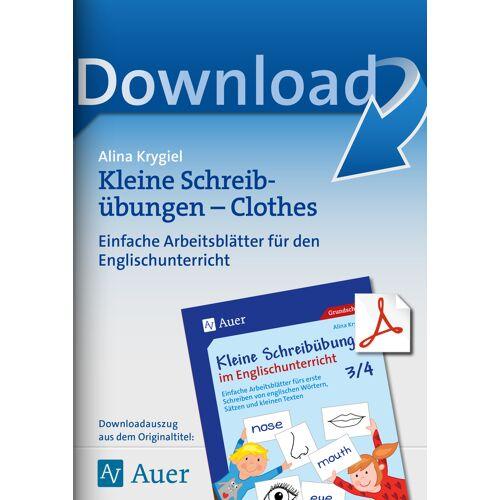 Auer Verlag Kleine Schreibübungen - Clothes